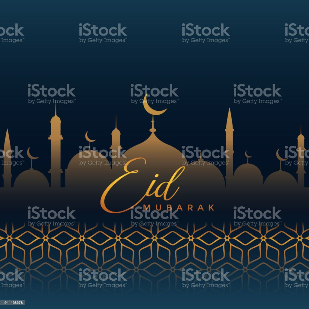 Eid mubarak greeting with mosque silhouette and islamic pattern eid mubarak greeting with mosque silhouette and islamic pattern royalty free eid mubarak greeting with kristyandbryce Choice Image