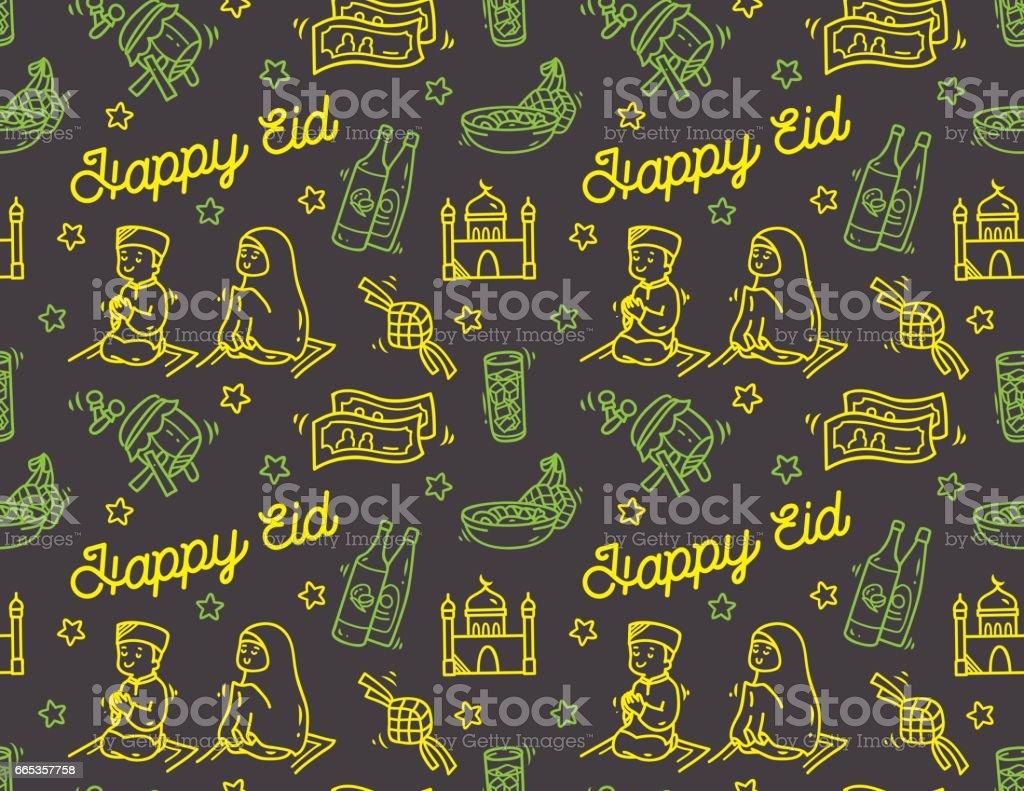Eid mubarak idul fitri festival doodle background stock vector art eid mubarak idul fitri festival doodle background royalty free eid mubarak idul fitri festival kristyandbryce Images