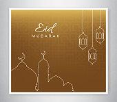 Design illustration for Eid greeting card