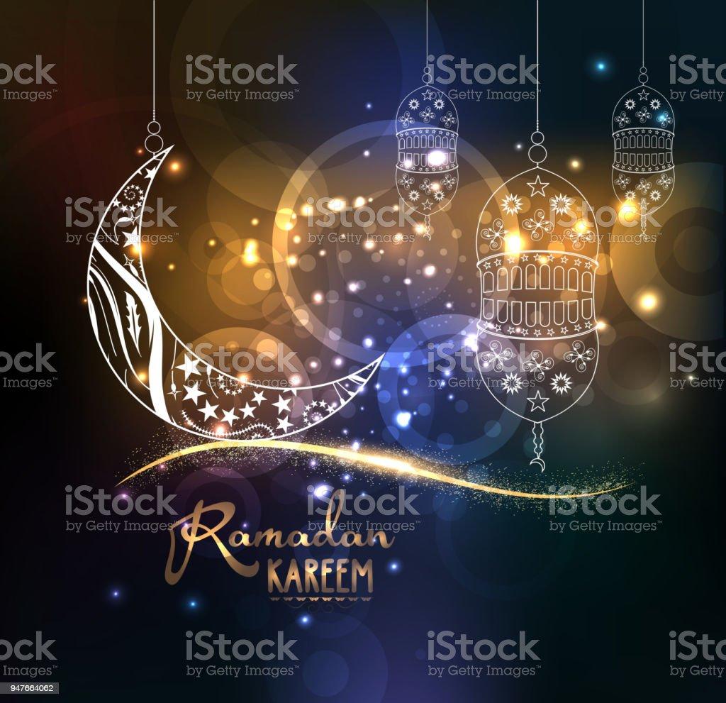 Eid Mubarak Ramadan Kareem Design Background Illustration For