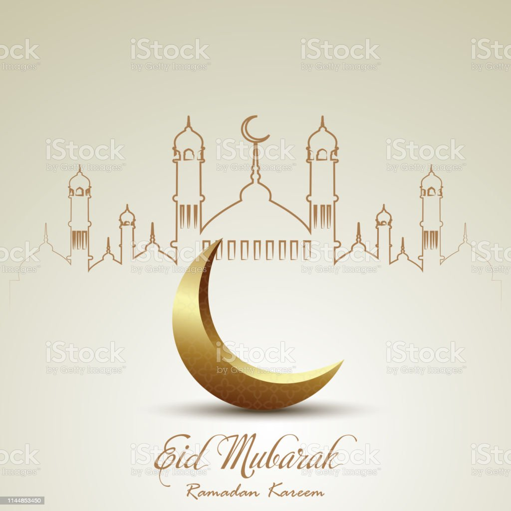 Eid Mubarak Ramadan Mubarak Greeting Card With Islamic Ornaments Vector Stock Illustration Download Image Now Istock