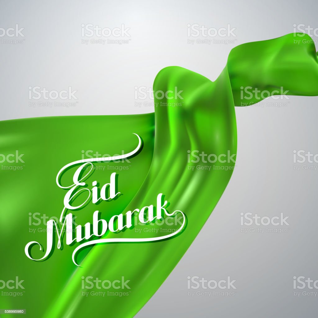 Eid Mubarak retro label. vector art illustration