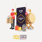 Eid Mubarak sale, web header design with Islamic festival for banner, poster, background, flyer,illustration, brochure and sale background