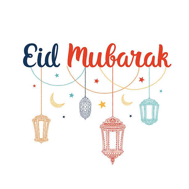 eid mubarak vector card - eid stock illustrations