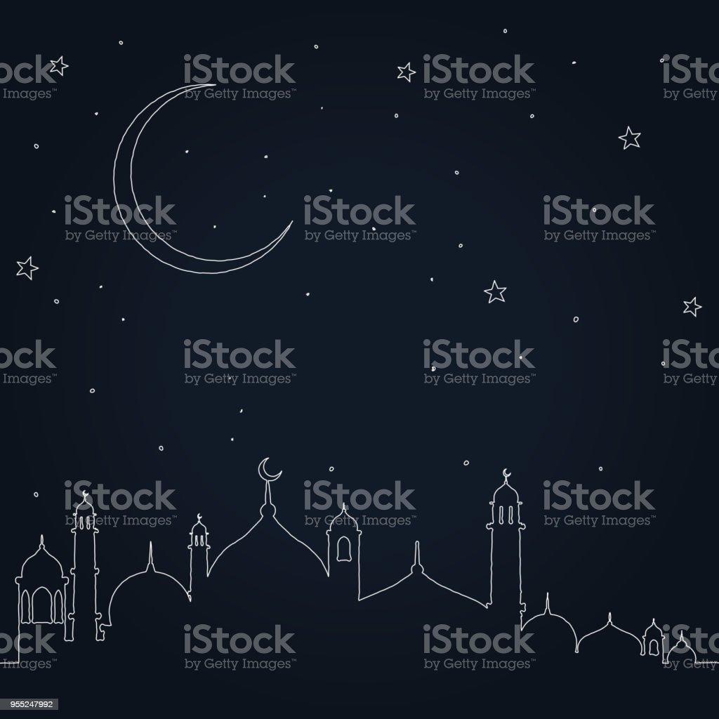 eid mubarak vector art illustration
