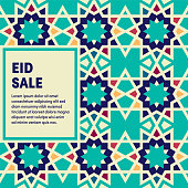 Modern design layout template for eid sale cover design for web banner or print advertising with abstract background.