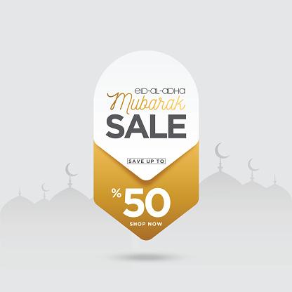 Eid-al-adha Sale banner stock illustration
