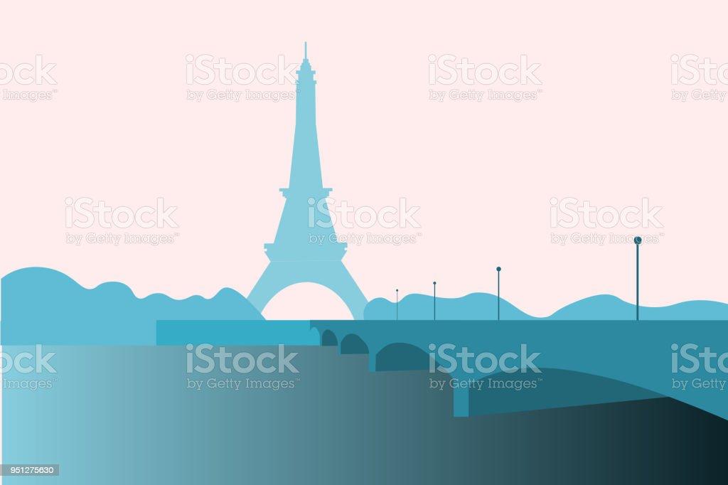 Torre Eiffel Una Estructura De Hierro Forjado Erigida En París Para ...