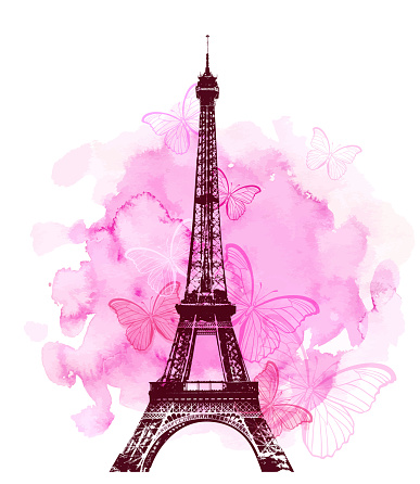 Eiffel Tower and butterfly