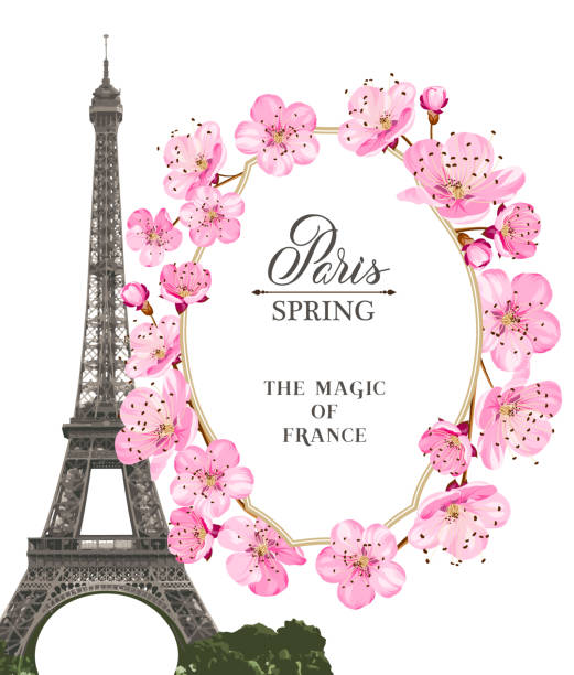 Royalty Free Paris In Spring Clip Art, Vector Images ...