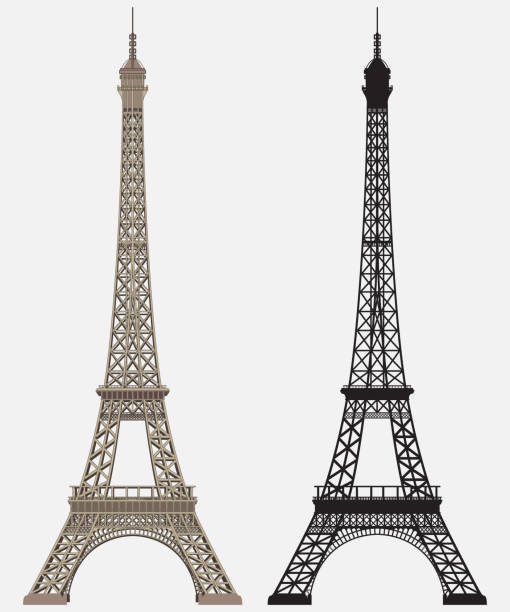 Eiffel tower Black Silhouette Stock illustration Eiffel tower and Black Silhouette. Vector. eiffel tower stock illustrations