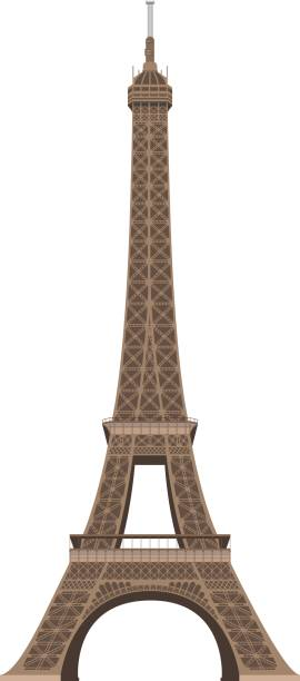 Eiffel Tower, Paris, France. Isolated on white background vector illustration. Eiffel Tower, Paris, France. Isolated on white background vector illustration. eiffel tower stock illustrations