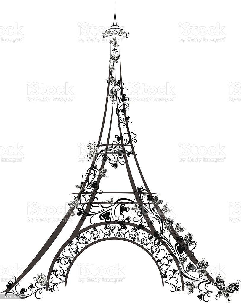Eiffel Tower, Paris, France royalty-free stock vector art