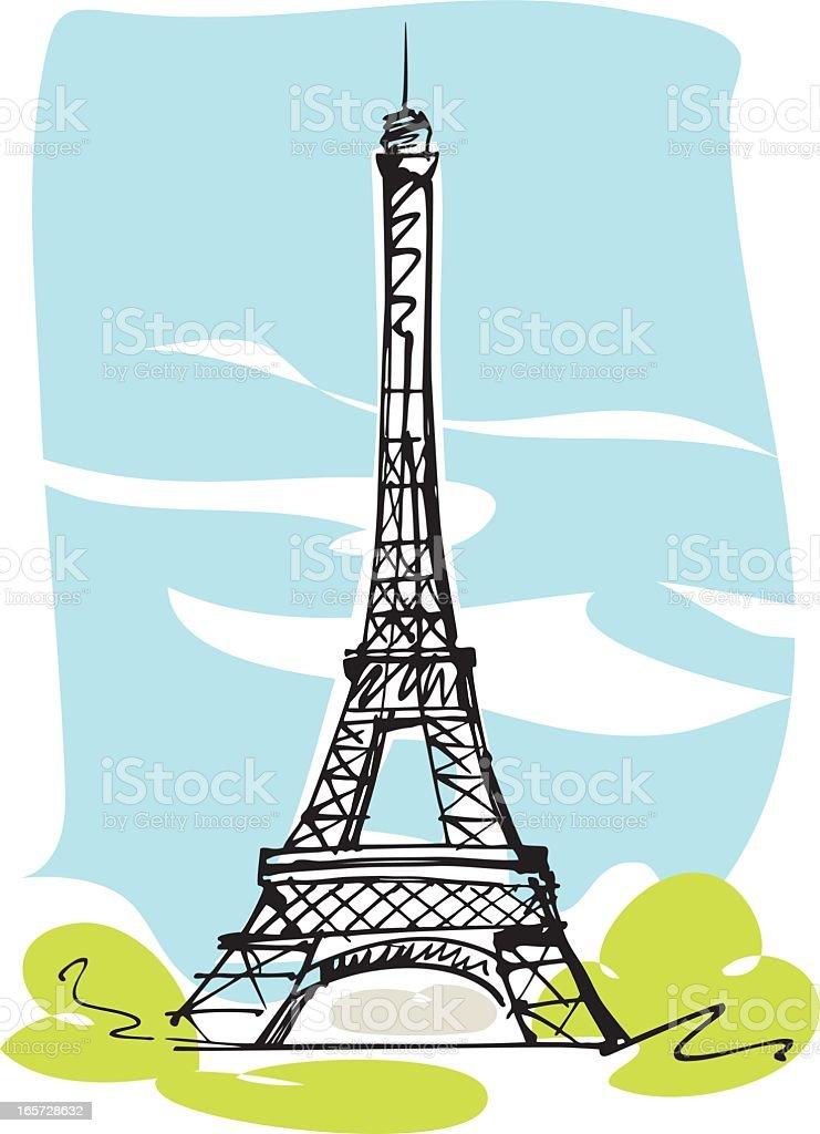 Eiffelturm, Paris Lizenzfreies eiffelturm paris stock vektor art und mehr bilder von digital generiert