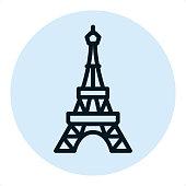 istock Eiffel tower - Pixel Perfect Single Line Icon 959690072