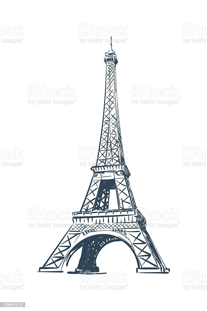 Eiffel tower sketch on white bg stock vector art more images of eiffel tower sketch on white bg royalty free eiffel tower sketch on white bg stock thecheapjerseys Image collections