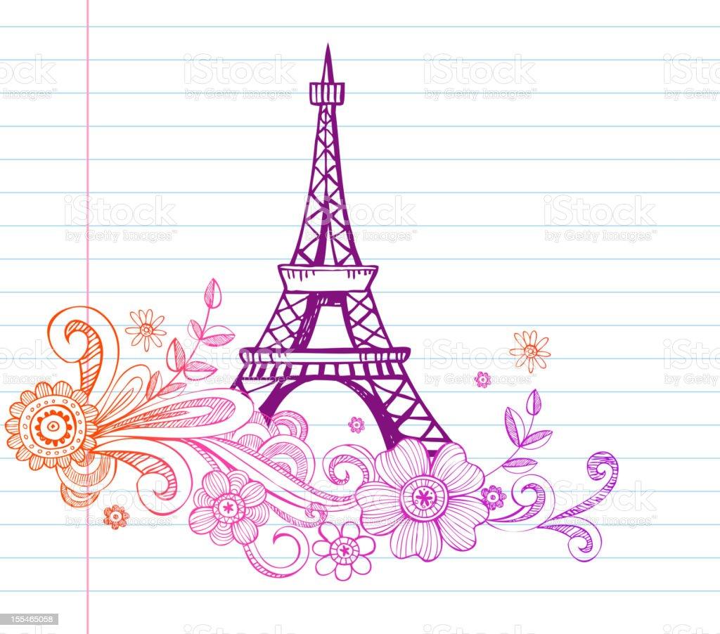 Torre Eiffel - Arte vectorial de stock y más imágenes de Aire libre ...