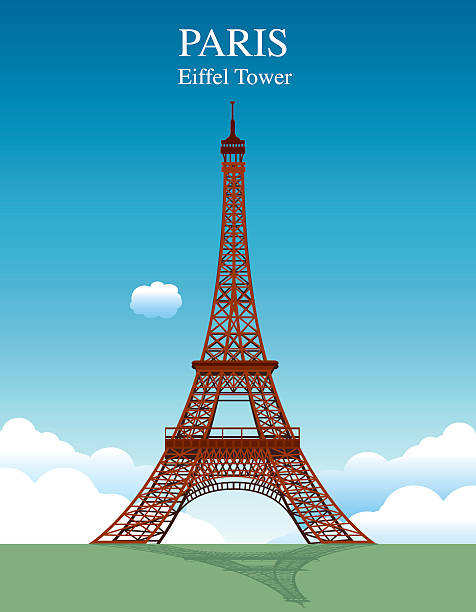 Eiffel Tower Vector Eiffel Tower eiffel tower stock illustrations