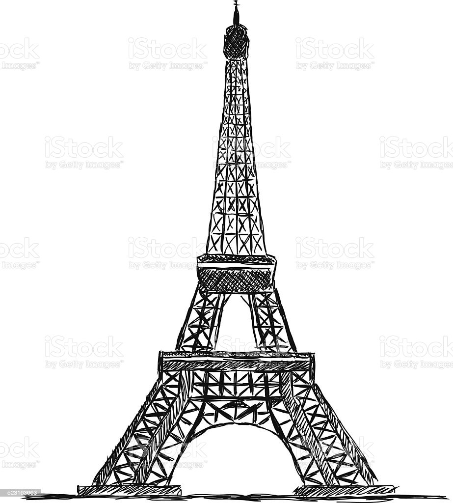 Eiffel Tower Stock Illustration - Download Image Now - iStock