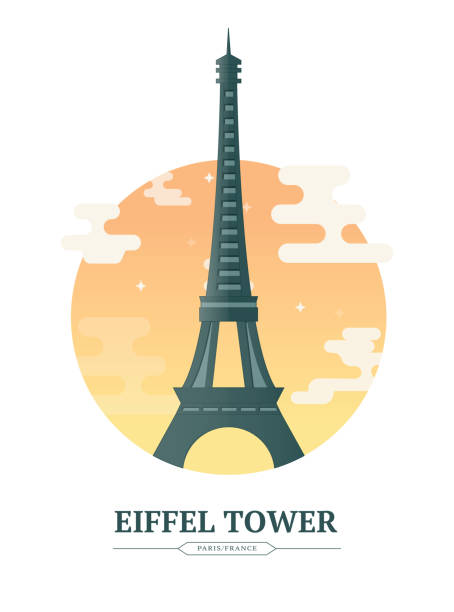 Eiffel Tower Eiffel Tower Paris France eiffel tower stock illustrations