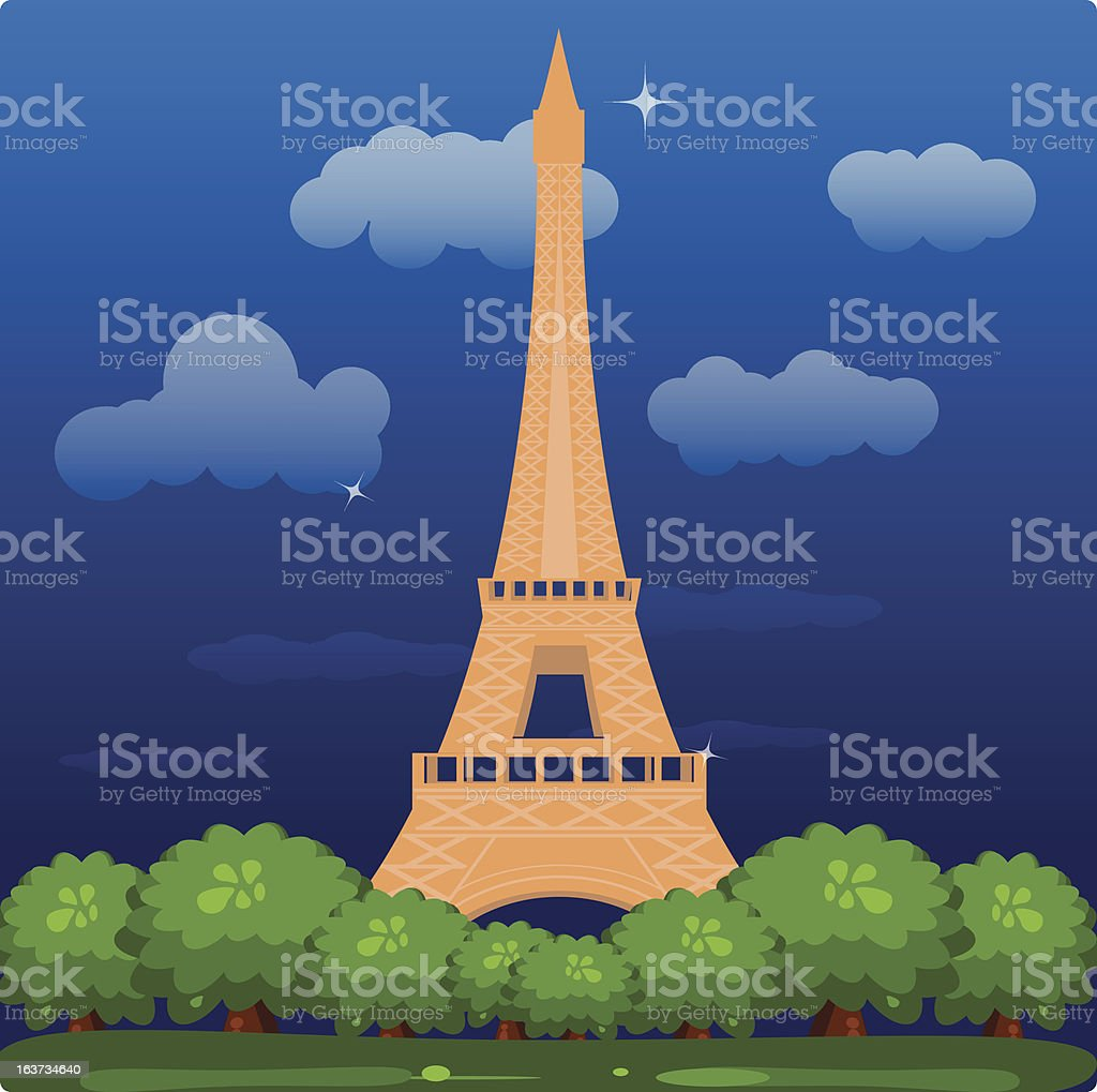 Eiffel royalty-free stock vector art