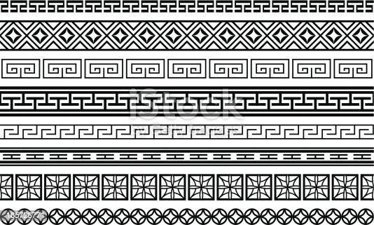 istock Eight Asian style borders 165726771