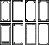 Eight Asian style frames
