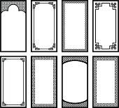 Vector Illustration - Eight Asian style frames 2