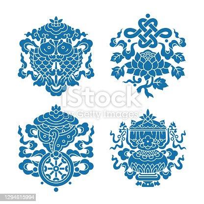 istock Eight auspicious treasures in Buddhism 1294615994