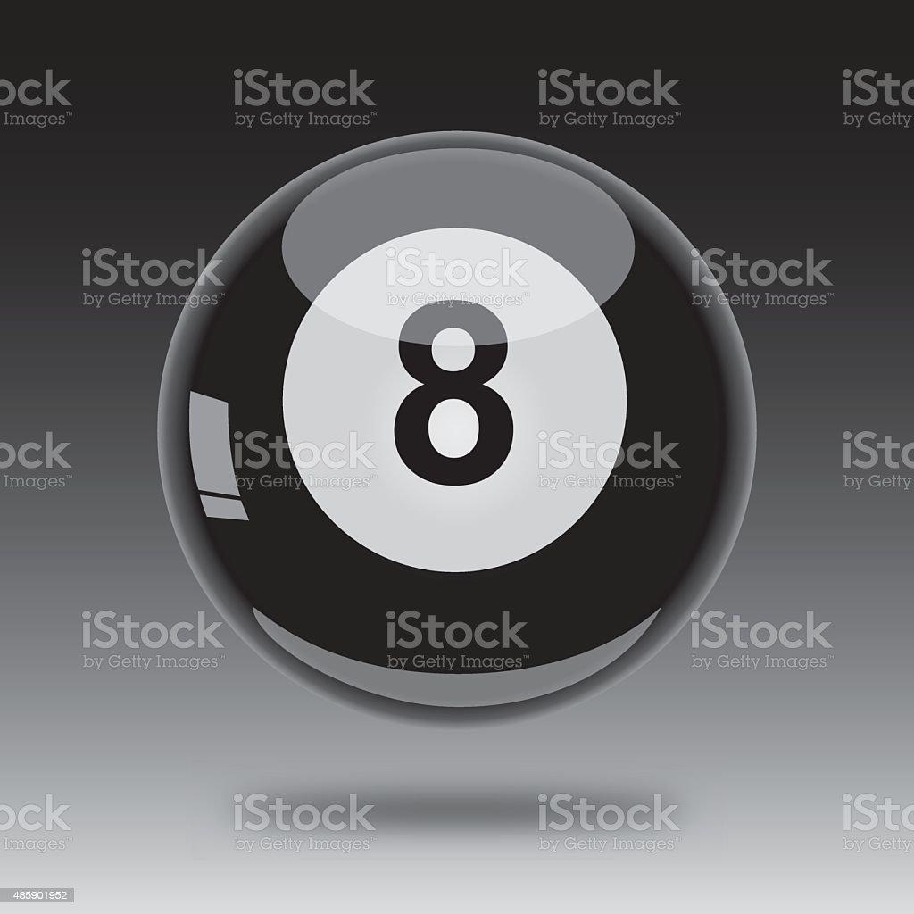 Eight Ball Icon vector art illustration