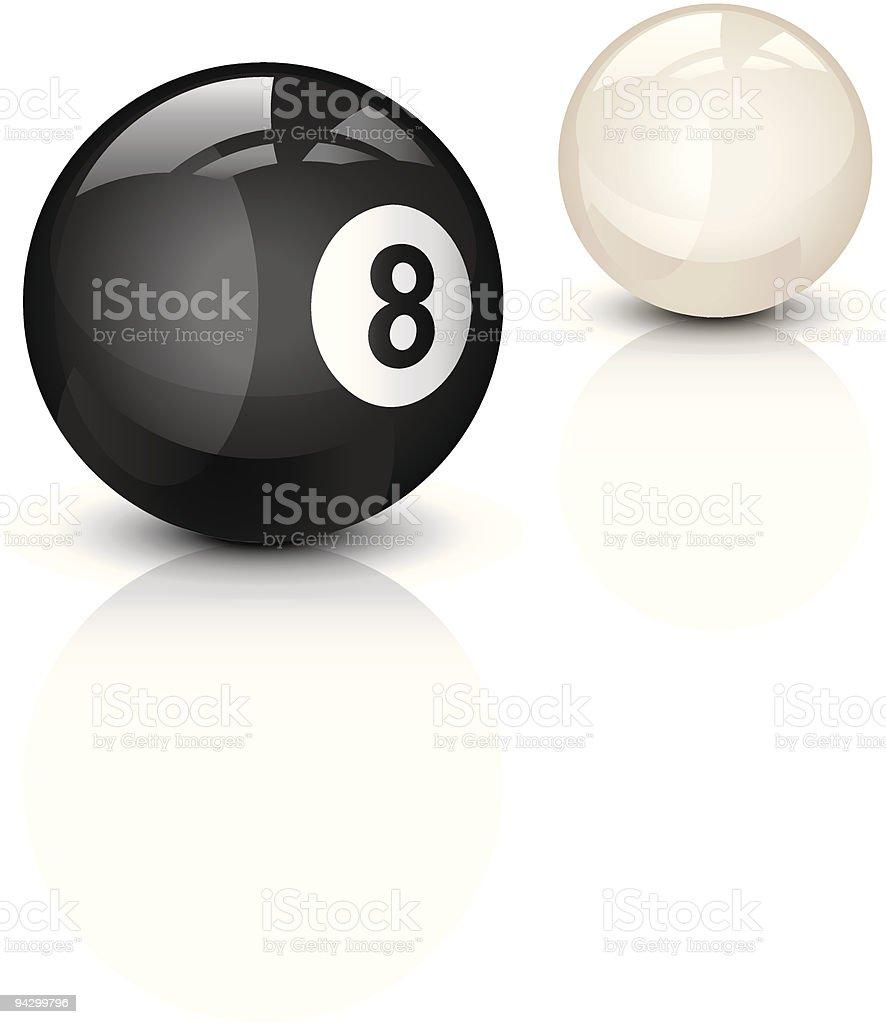 Eight ball vector art illustration