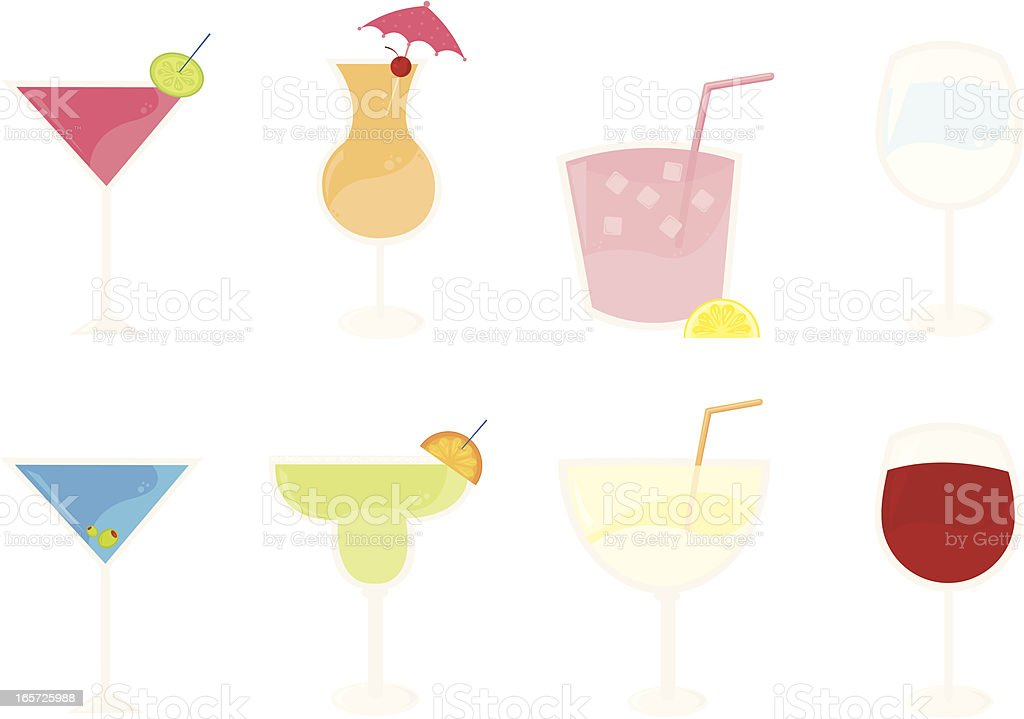 Eight Cocktail Beverages royalty-free eight cocktail beverages stock vector art & more images of alcohol