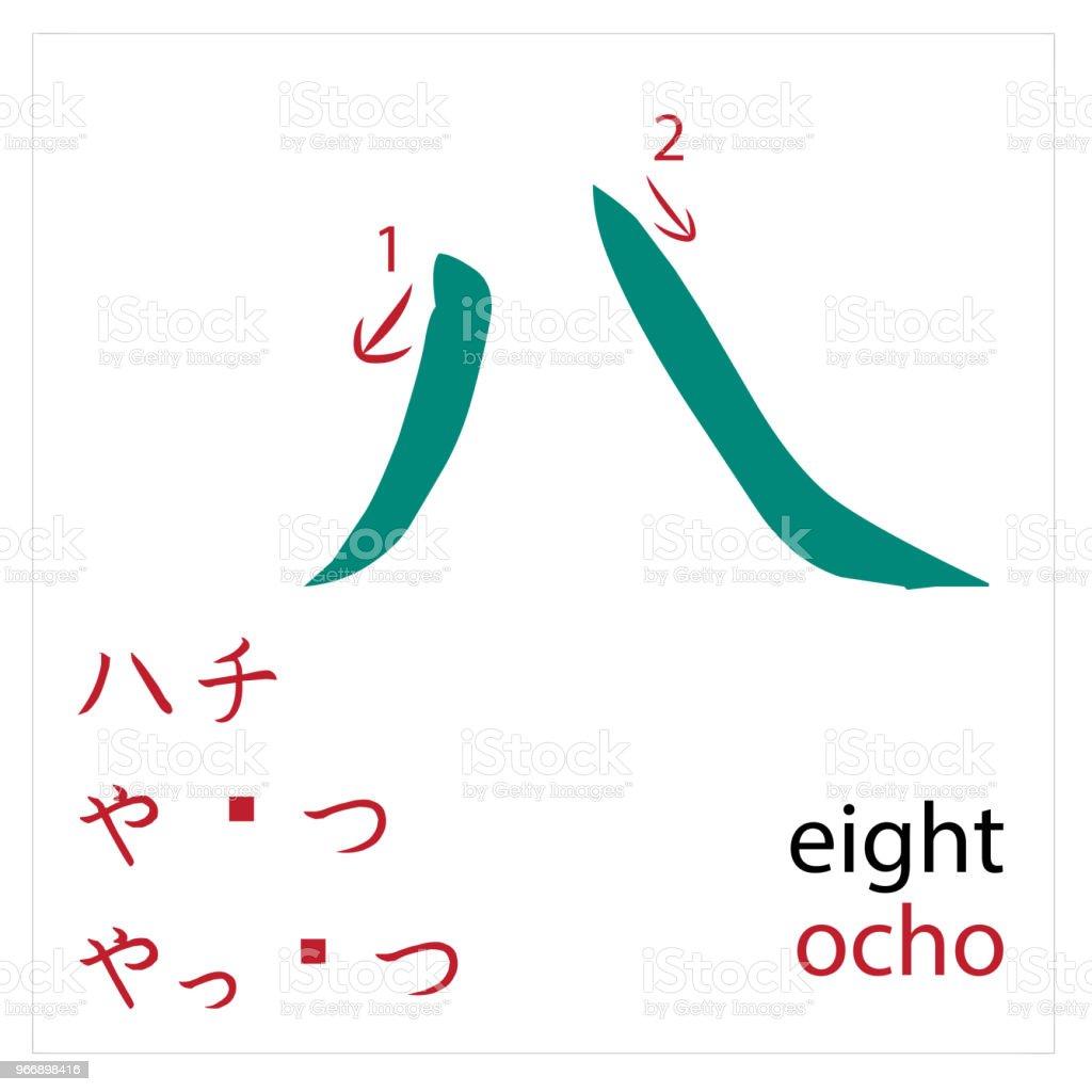 Ilustración de 8 Diseño Del Vector Japonés Tarjetas Para Estudiantes ...