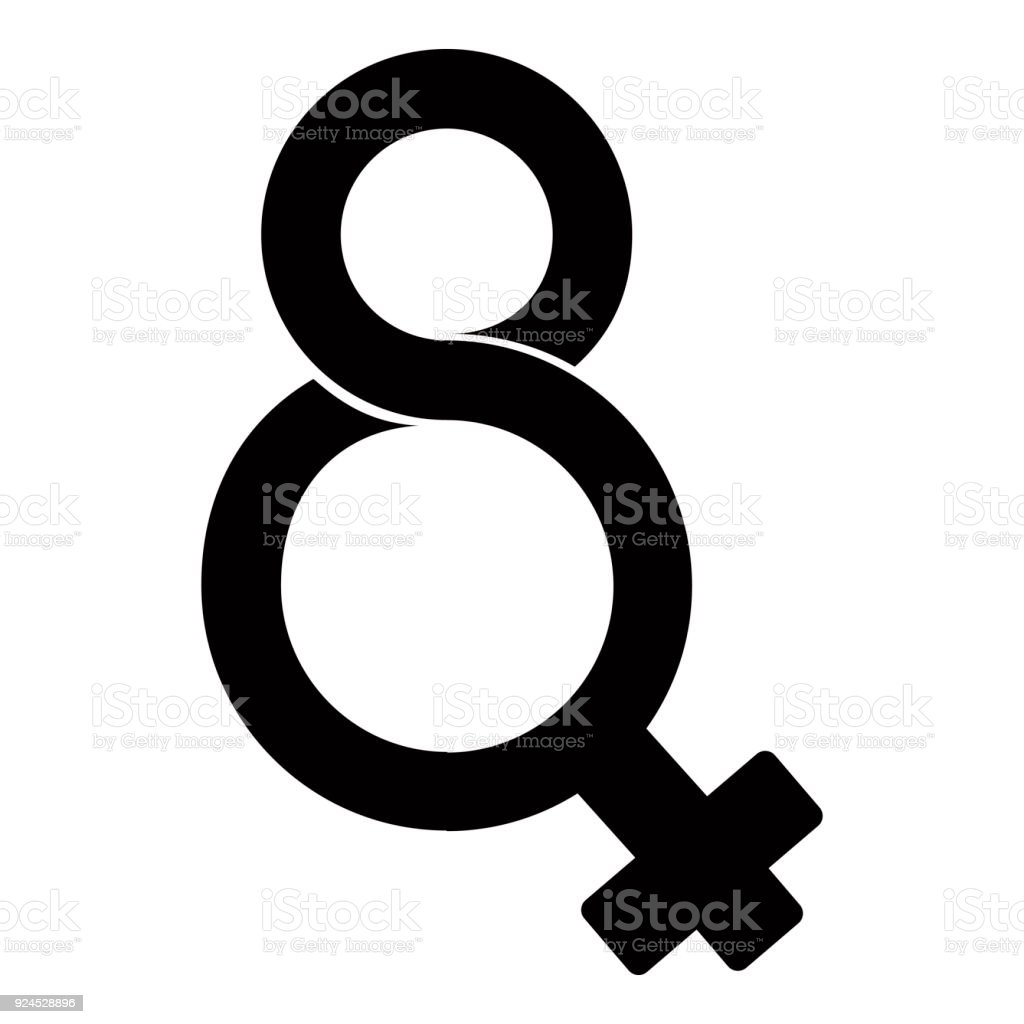 Eight Number Shaped Female Gender Symbol Stock Vector Art More