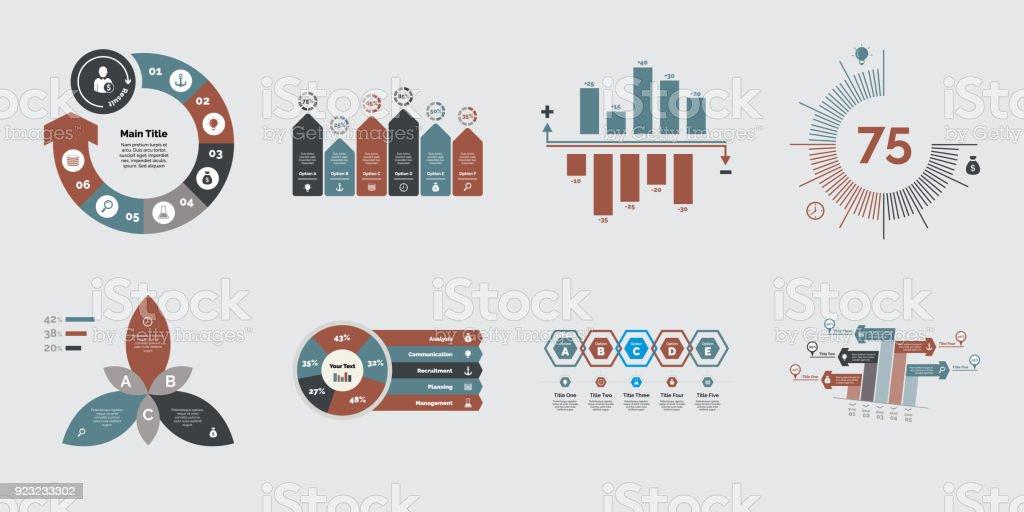 Acht Projekt Charts Vorlagen Stock Vektor Art und mehr Bilder von ...