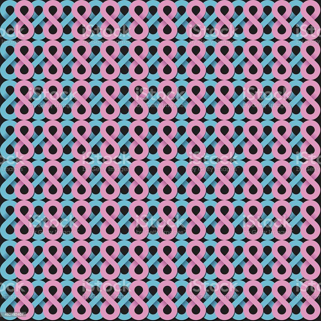 eight shape pattern royalty-free stock vector art