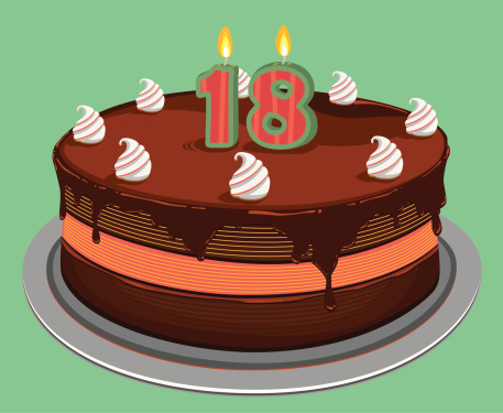 Eighteen Birthday Cake