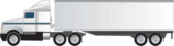 Royalty Free Semi Truck Profile Clip Art, Vector Images ...