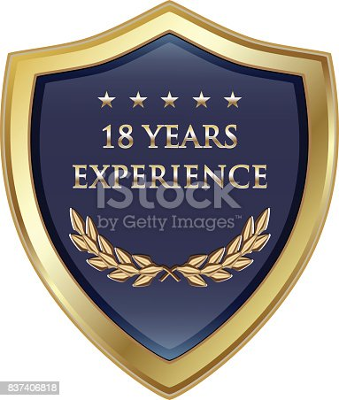 Eighteen years experience gold shield with five stars.