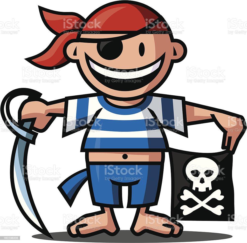 Ein Pirat. royalty-free stock vector art