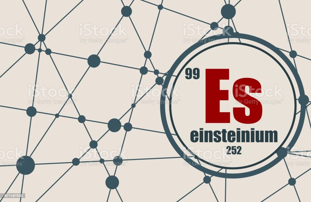 Einsteinium chemical element. vector art illustration