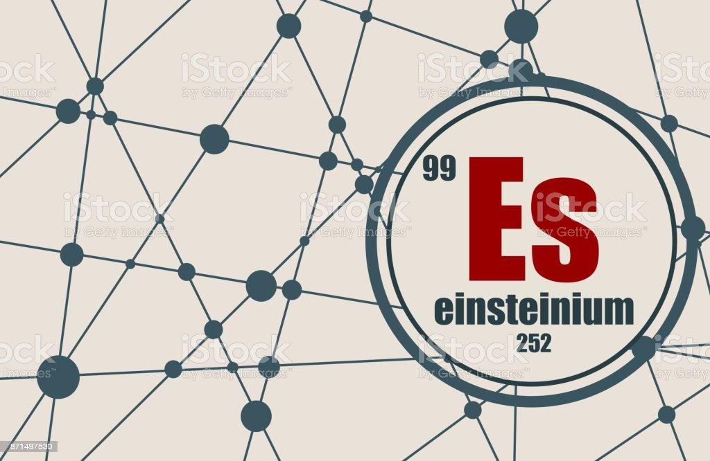 Einsteinium chemical element. vector art illustration