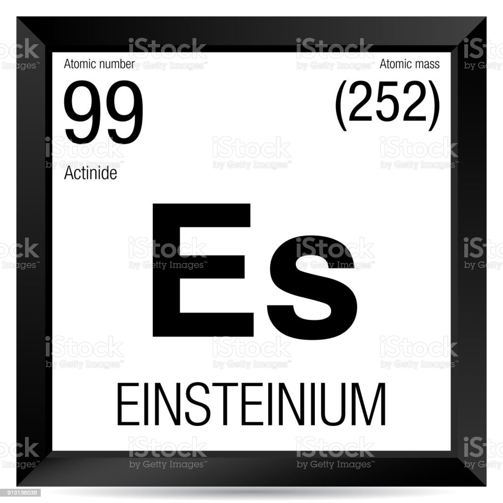 Einsteinium Symbol Element Number 99 Of The Periodic Table Of The