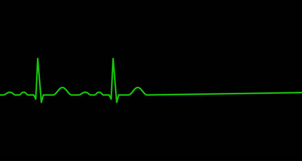Ekg line. Heart stops beating. Death. Ekg line. Heartbeat. Heart stops beating. Death. Electrocardiography. Vector illustration. death stock illustrations