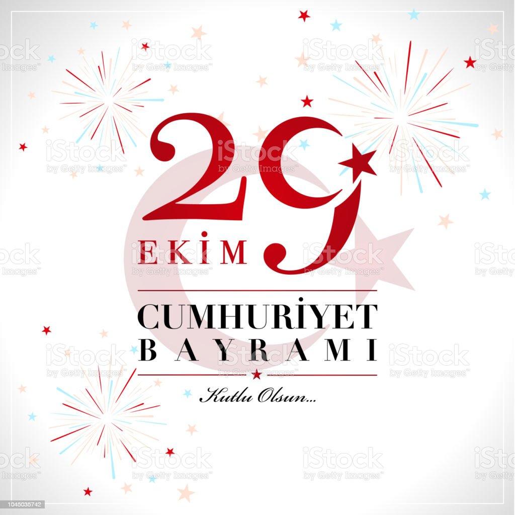 29 Ekim Cumhuriyet Bayrami. 29. Oktober nationale Republik der Türkei – Vektorgrafik