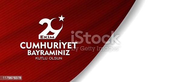 29 ekim, cumhuriyet bayrami, Translation: 29 october Republic Day Turkey and the National Day in Turkey. celebration republic. for social media vector illustration.