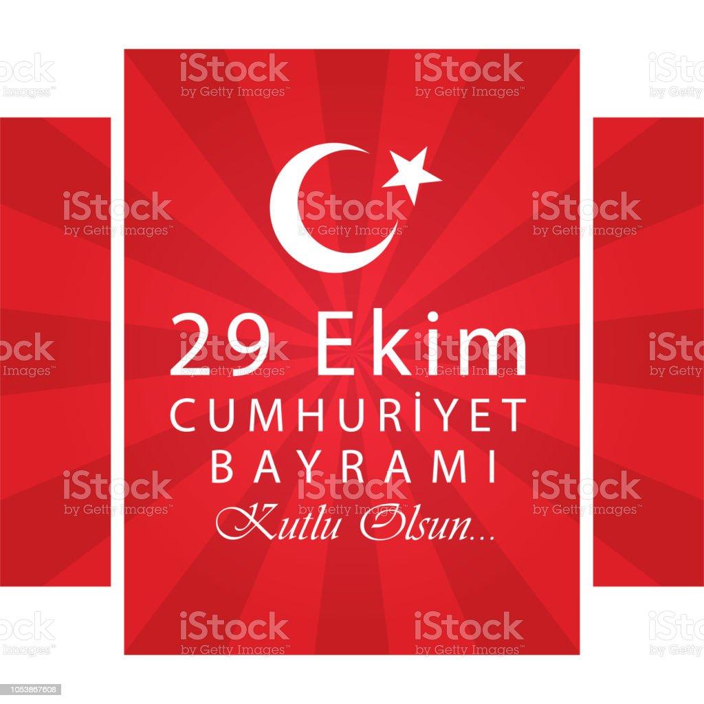 29 Ekim Cumhuriyet Bayrami Turkish Meaning October 29