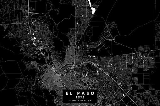 El Paso, Texas, USA Vector Map