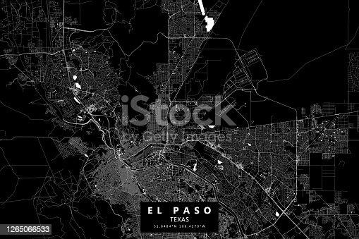 Mapa vectorial de El Paso, Texas, EE. UU.