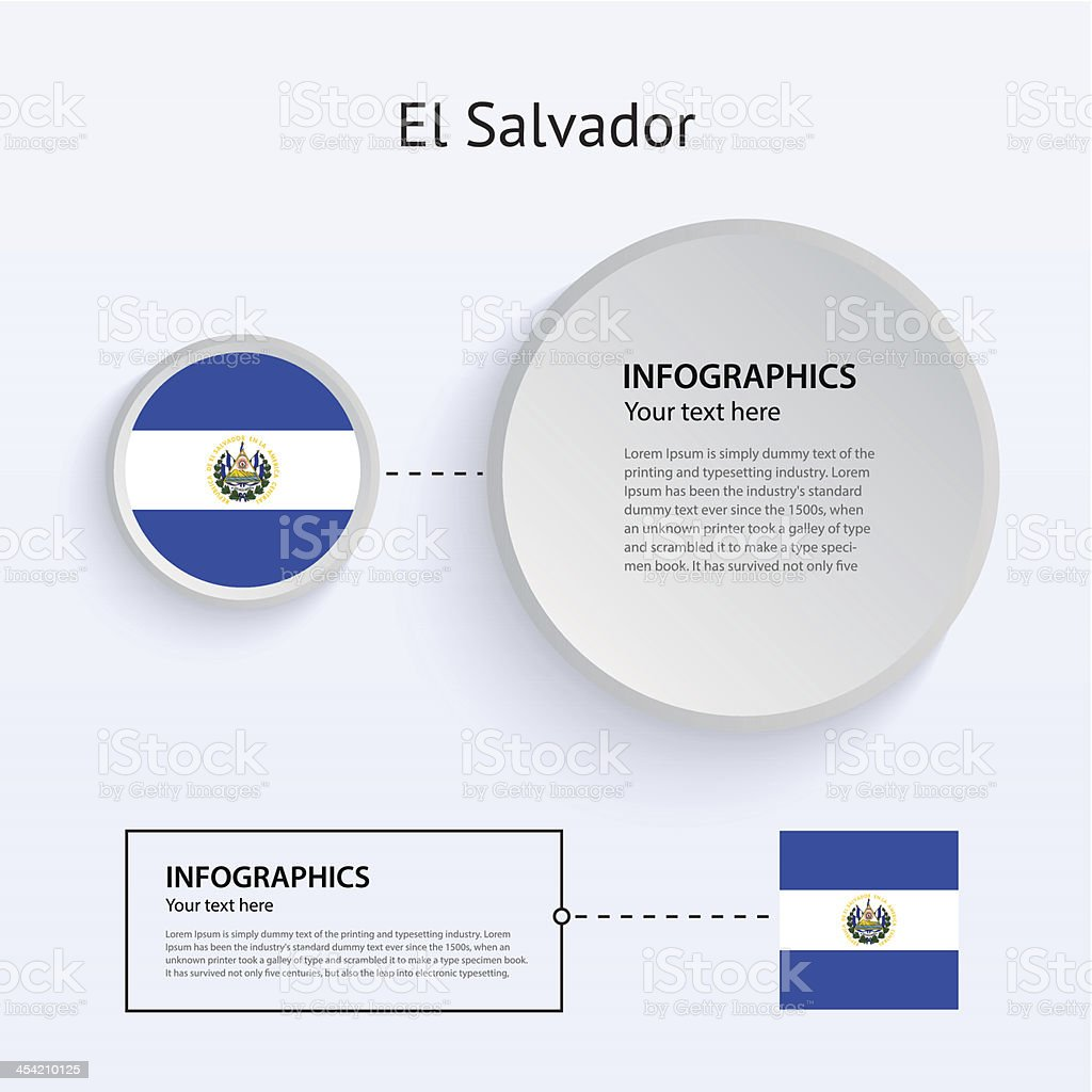 El Salvador Country Set of Banners. royalty-free stock vector art